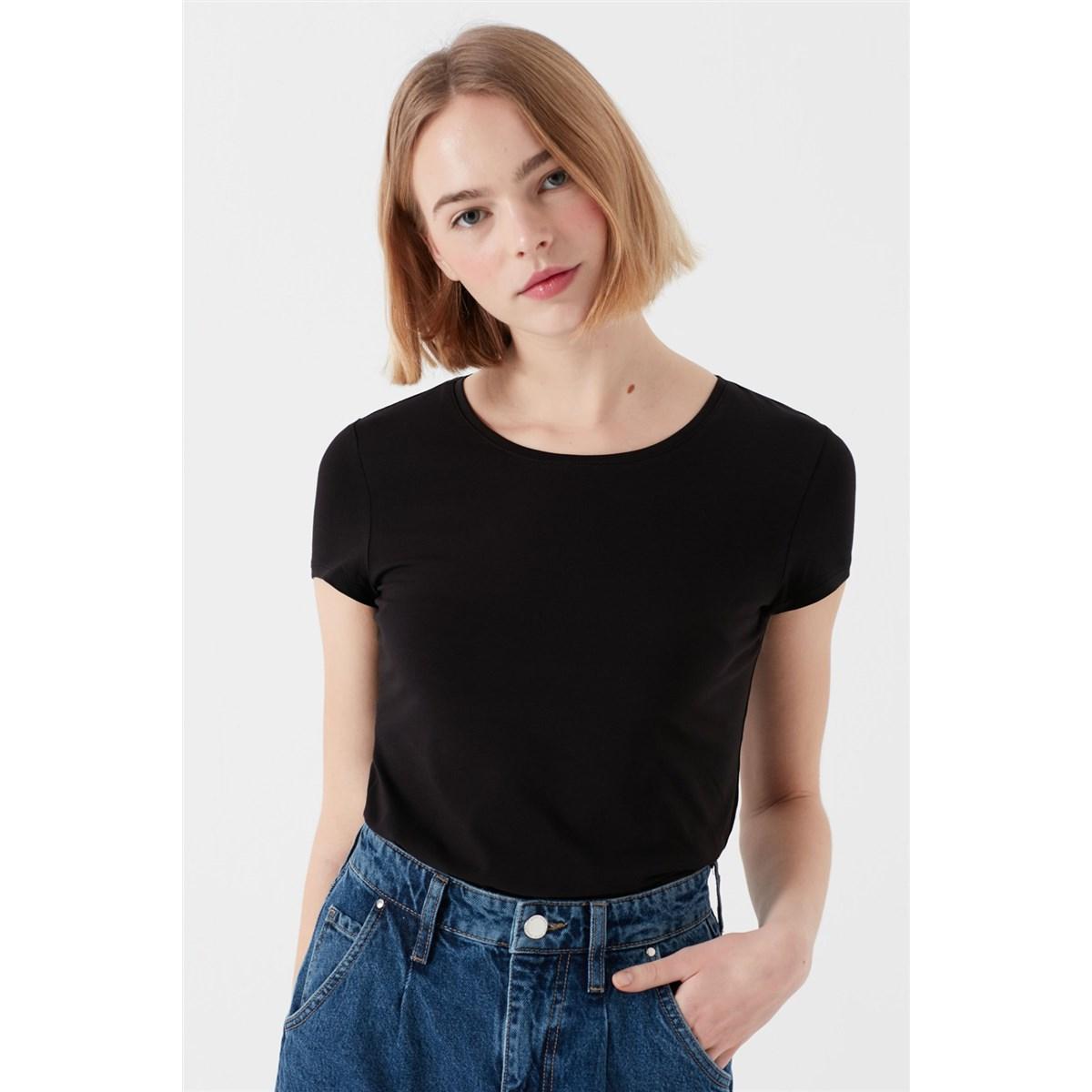 Mavi Kadın Siyah Basic Günlük T-Shirt