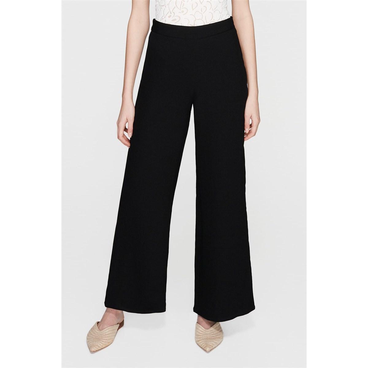 Mavi Kadın Bol Paça Siyah Pantolon