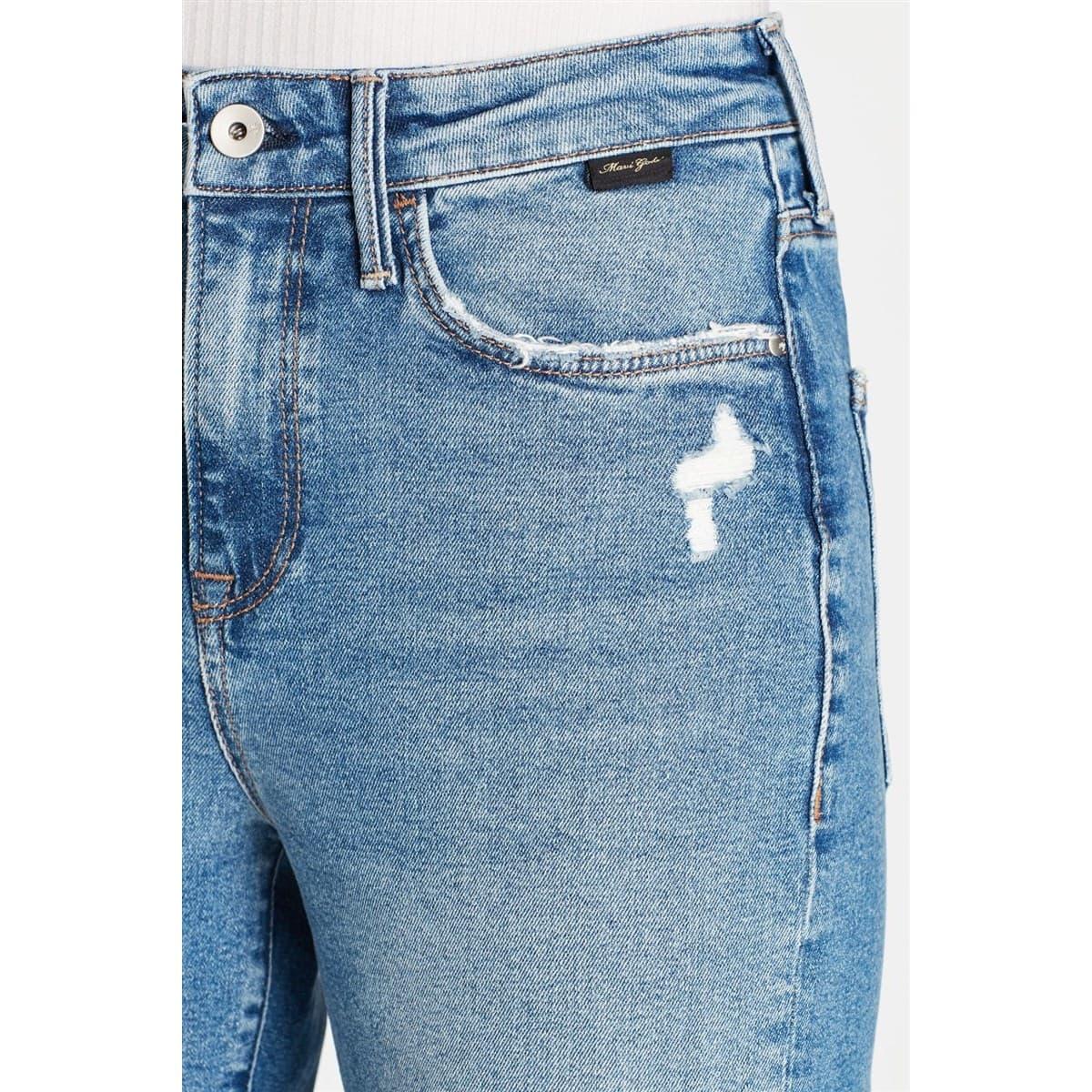 Cindy Gold Icon Koyu Vintage Kadın Jean Pantolon