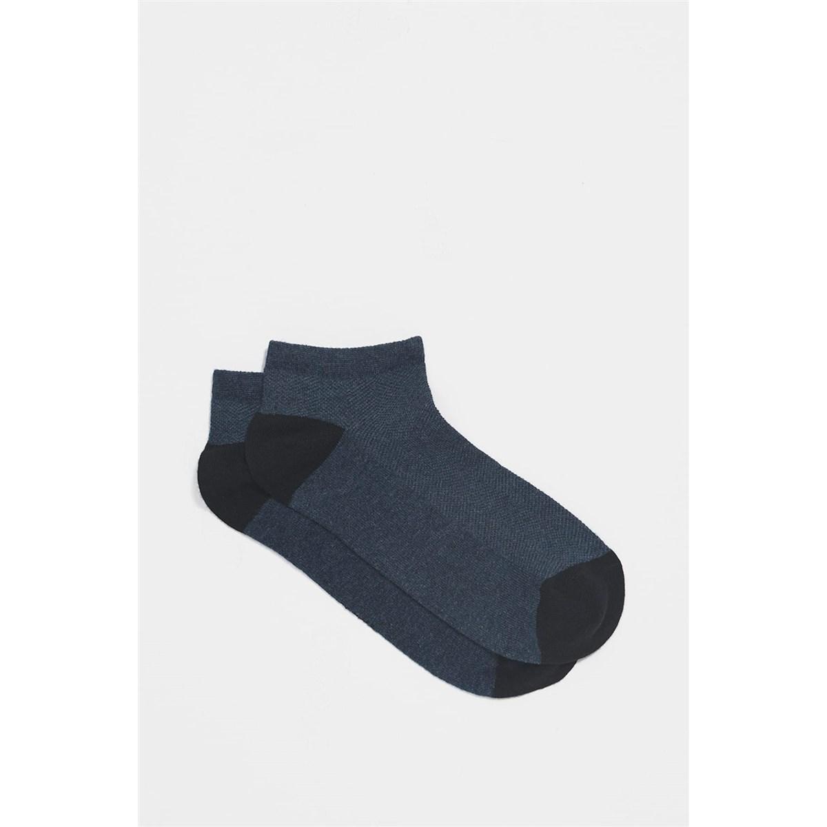 Erkek Lacivert Patik Çorap (091551-25723)