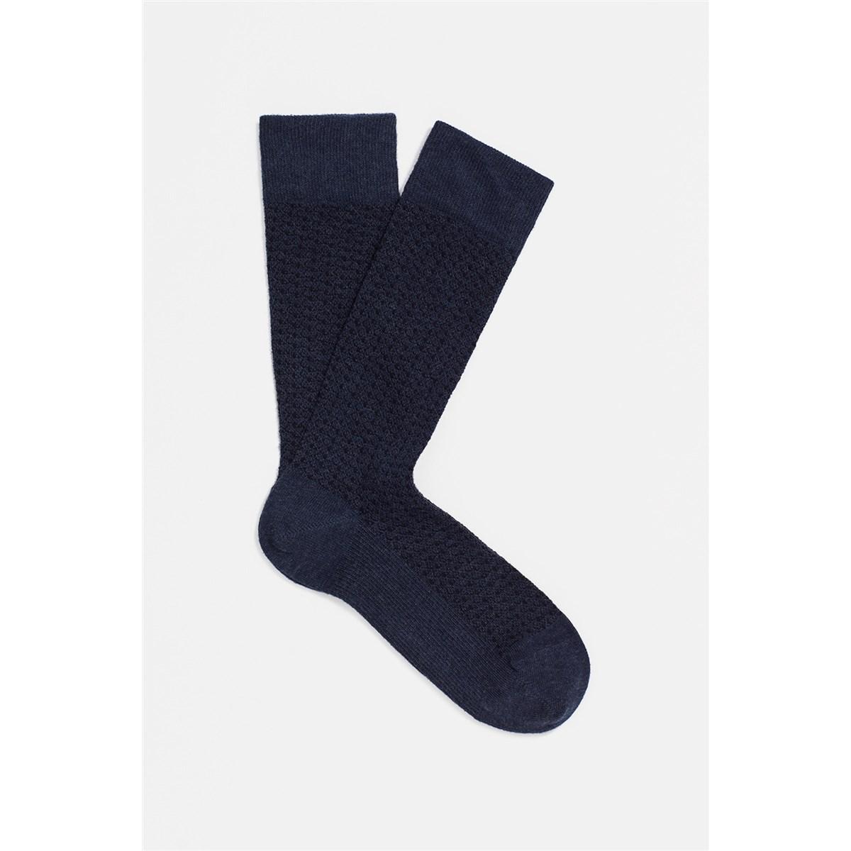 Lacivert Erkek Uzun Kışlık Çorap (091415-26828)