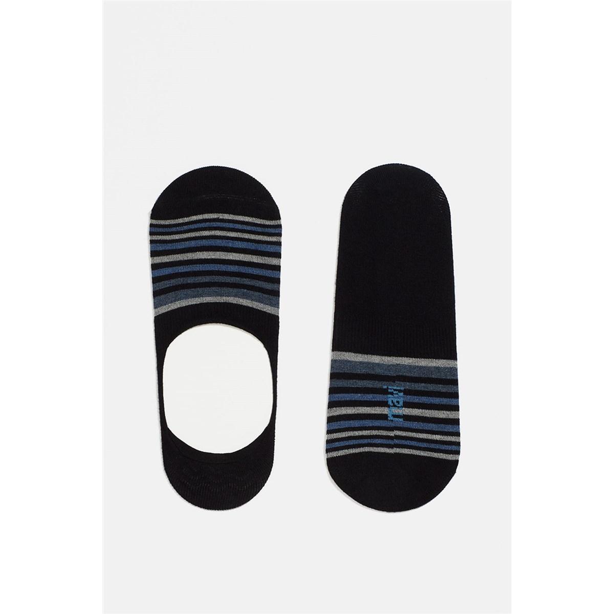 Çizgili Lacivert Erkek Babet Çorap (091736-28417)
