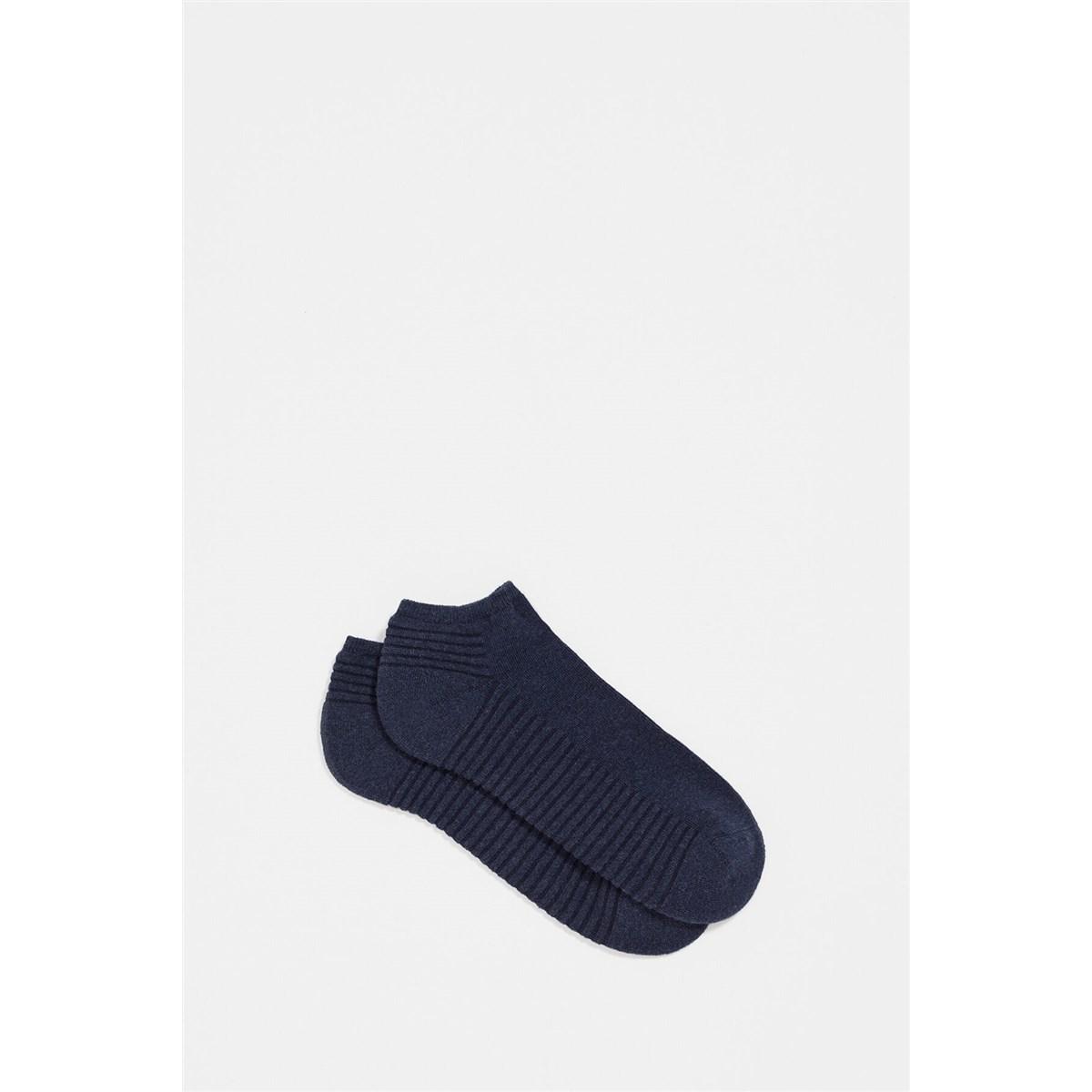 Erkek Mavi Kısa Günlük Çorap (091424-900)