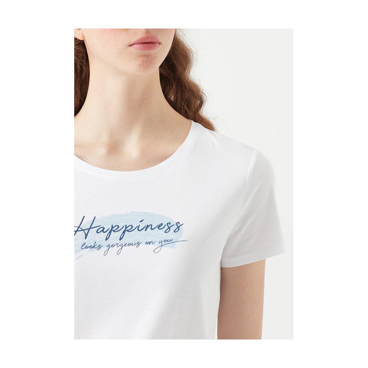 Happiness Baskili Penye Beyaz