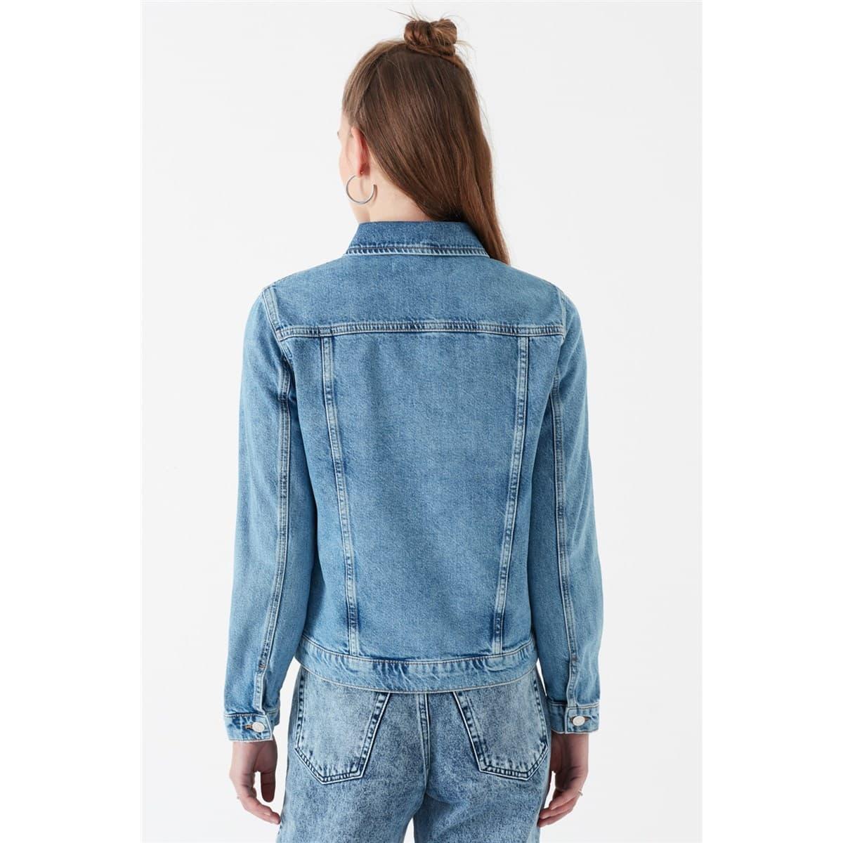 Mavi Jeans Kylie Kadın Mavi Jean Ceket