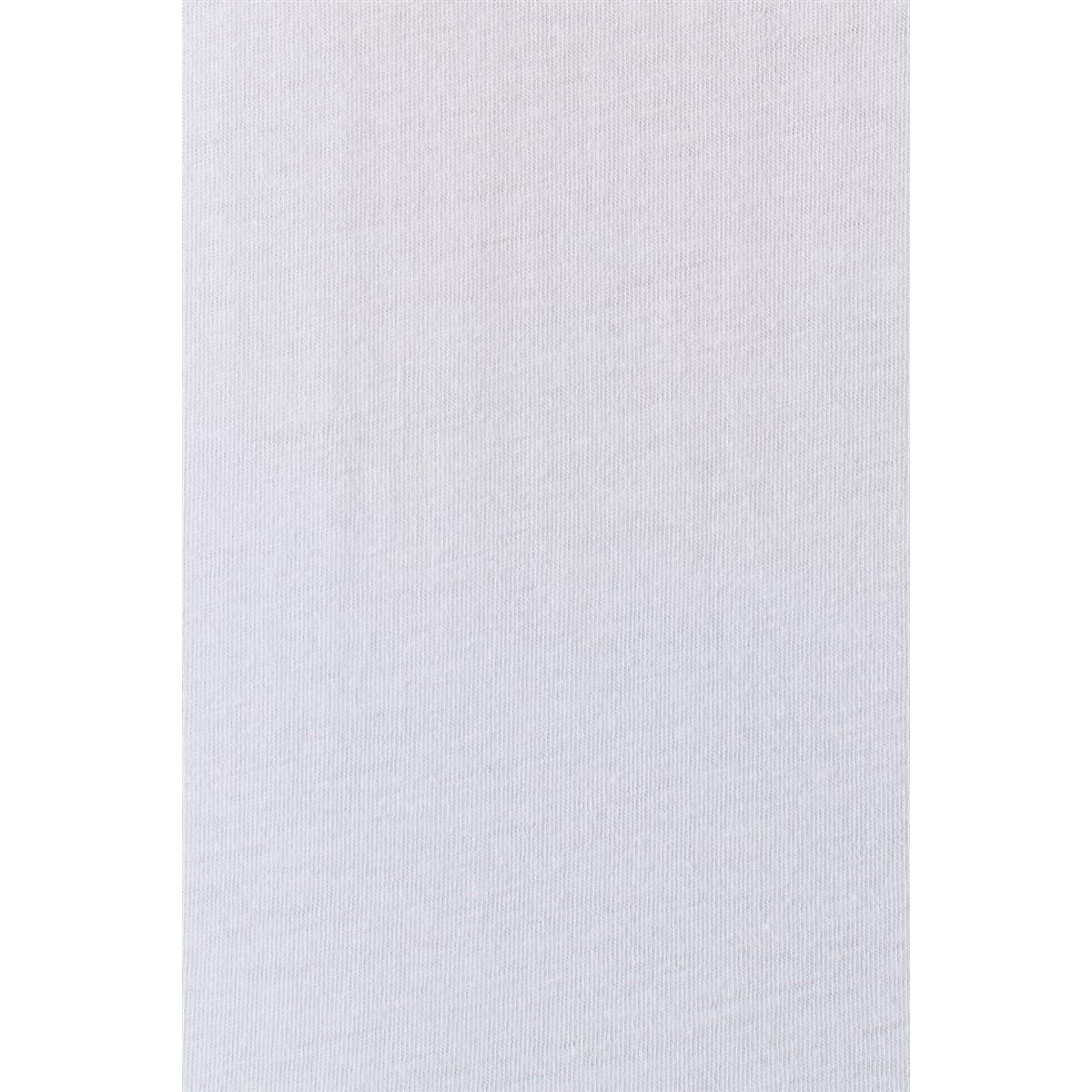 Mavi Baskili Penye Beyaz