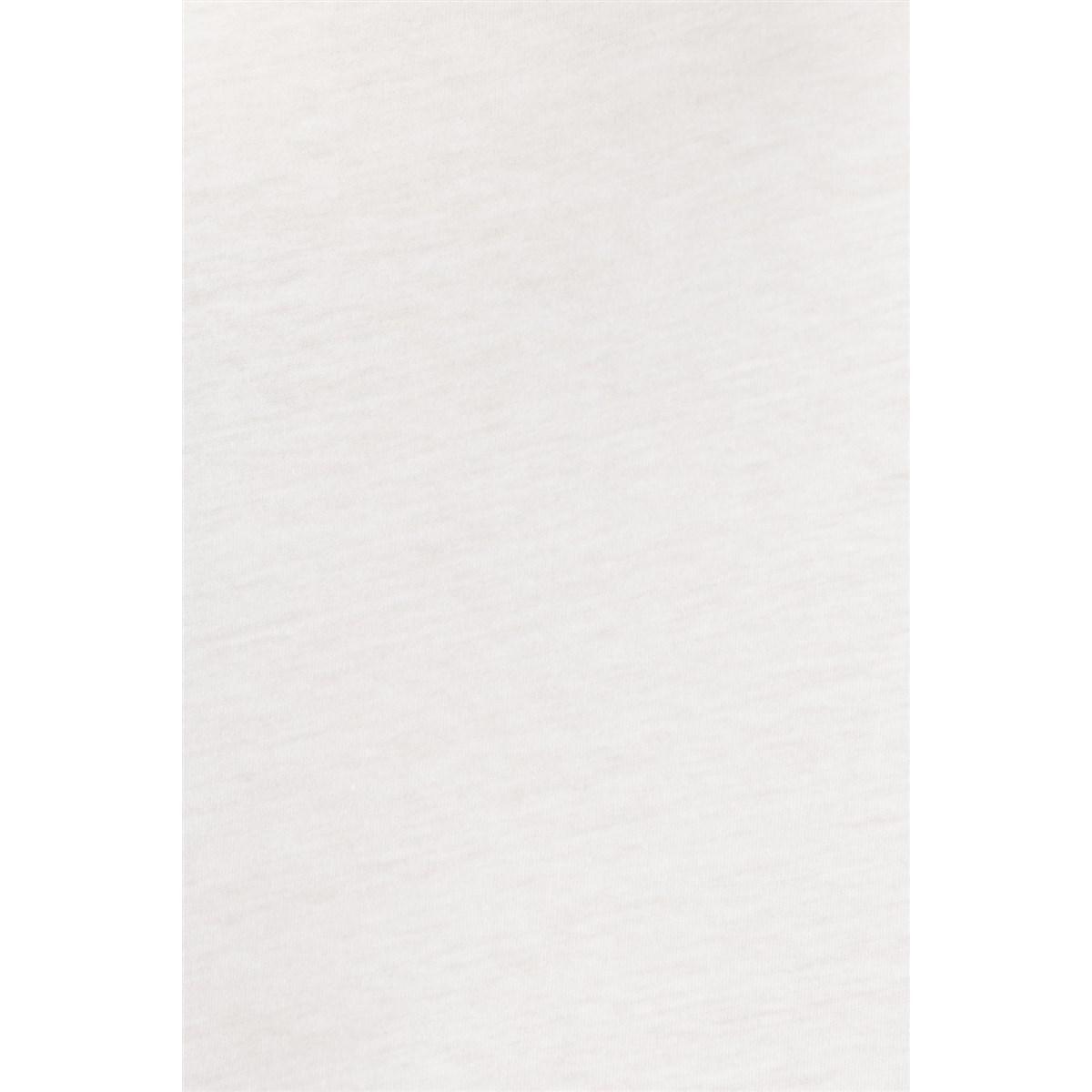 Mavi Baskili Tişört Beyaz