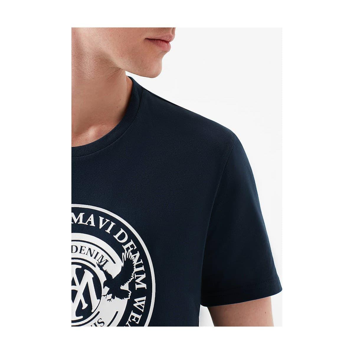 Mavi Baskili Tişört