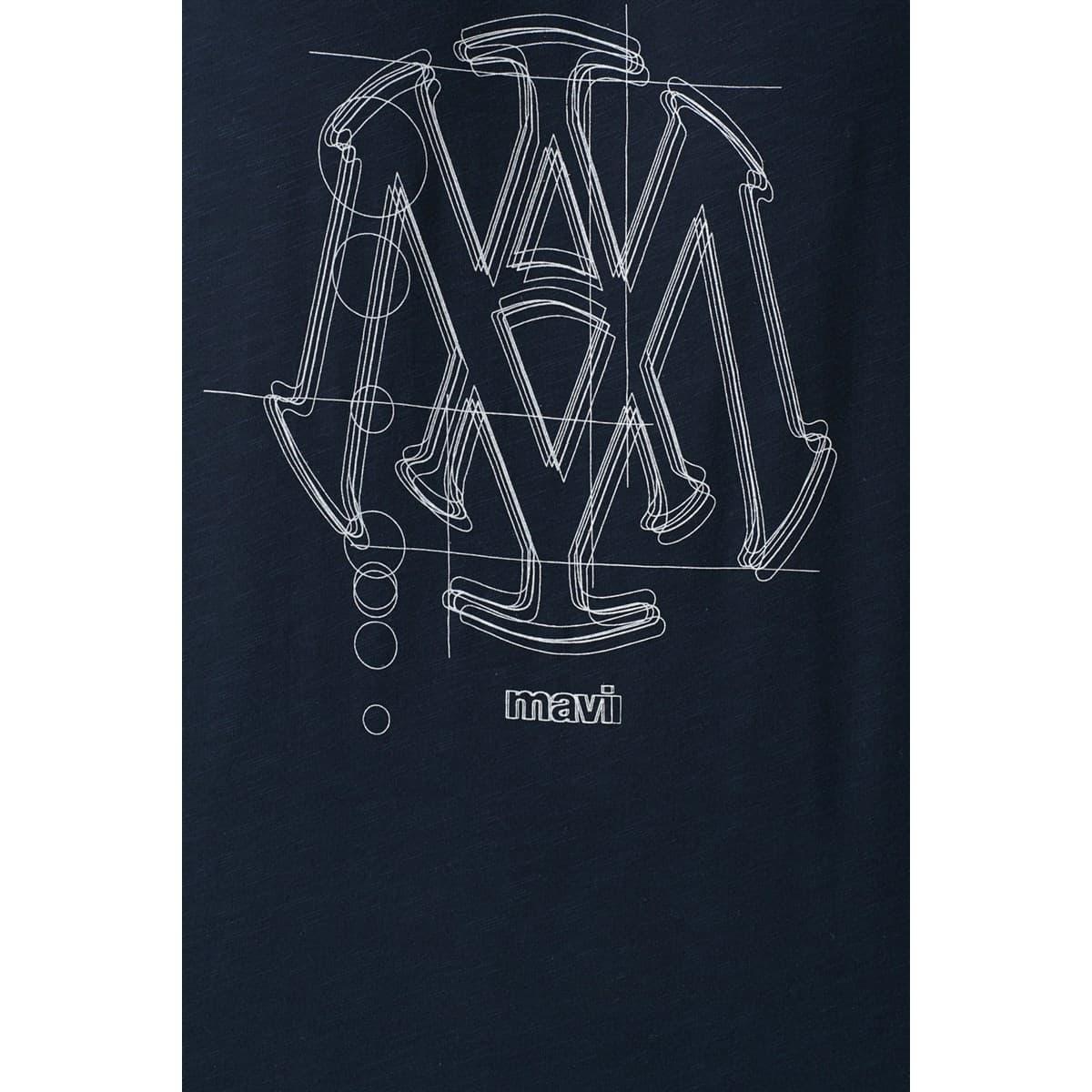 Mühür Logo Tişört Gece Lacivert