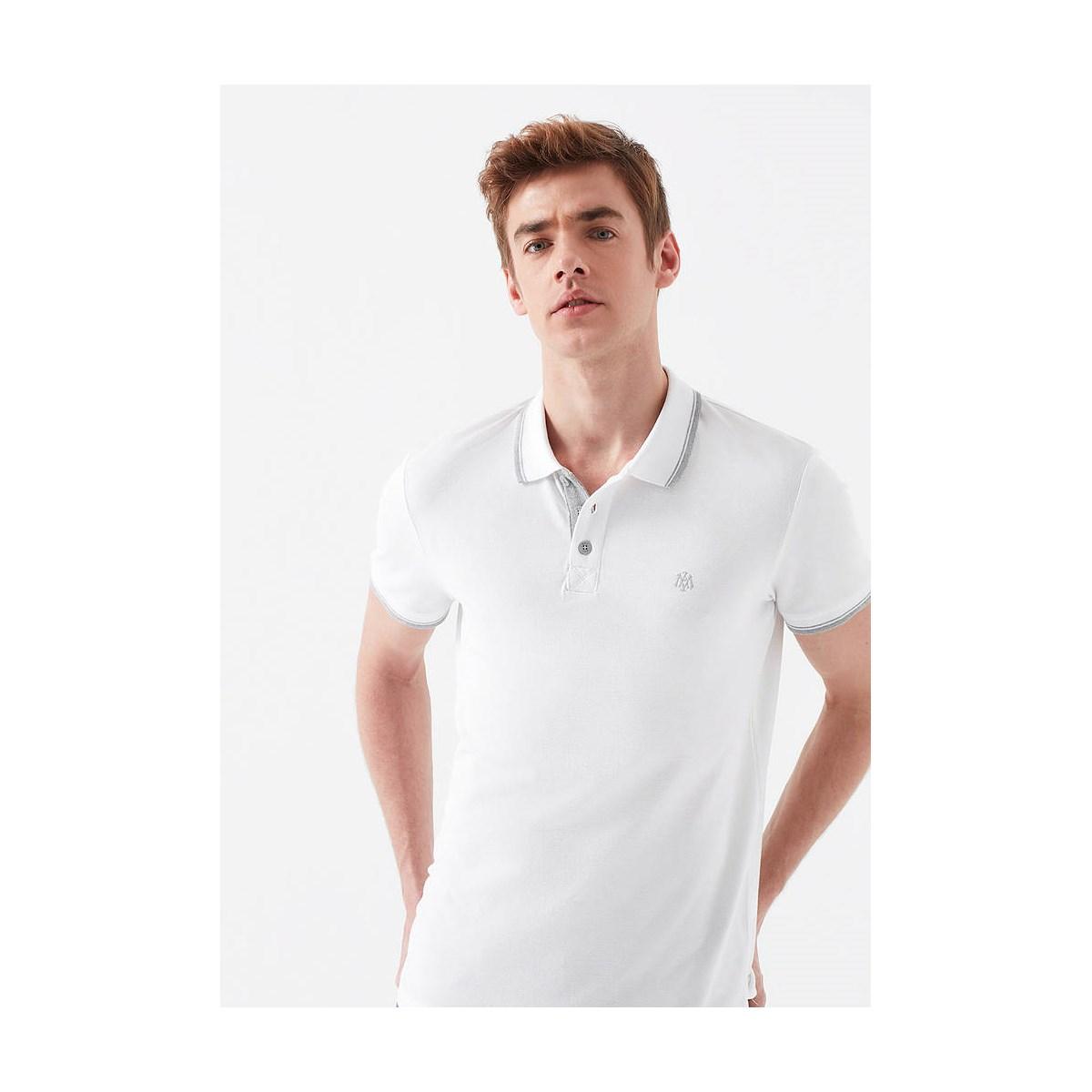 Polo Tişört Açık Gri Melanj