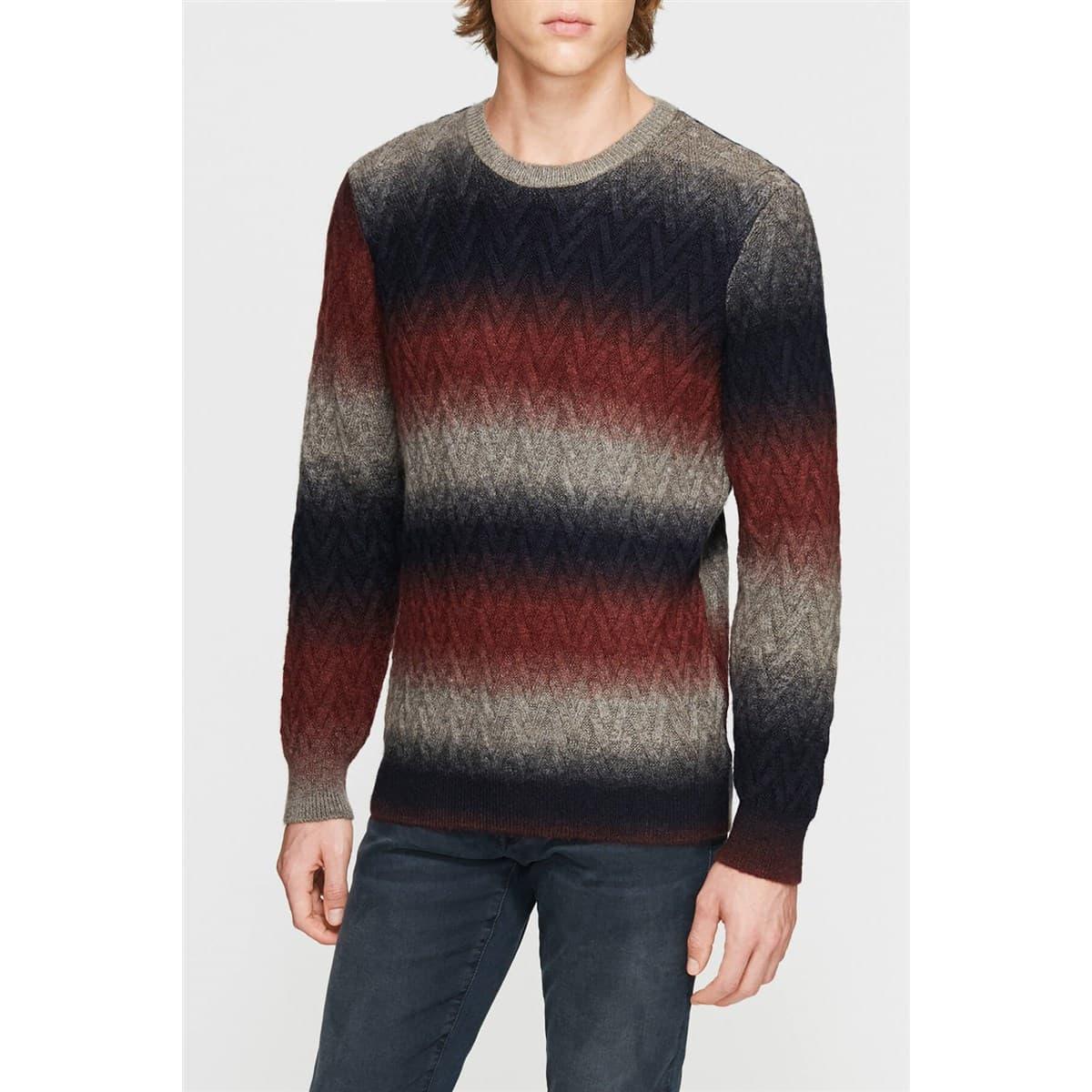 Stripe Sweater Blueberry