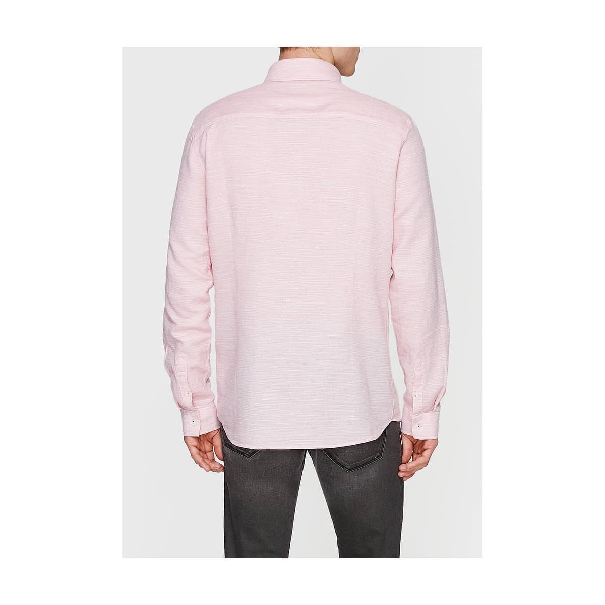 Uzun Kol Gömlek Soluk Pembe