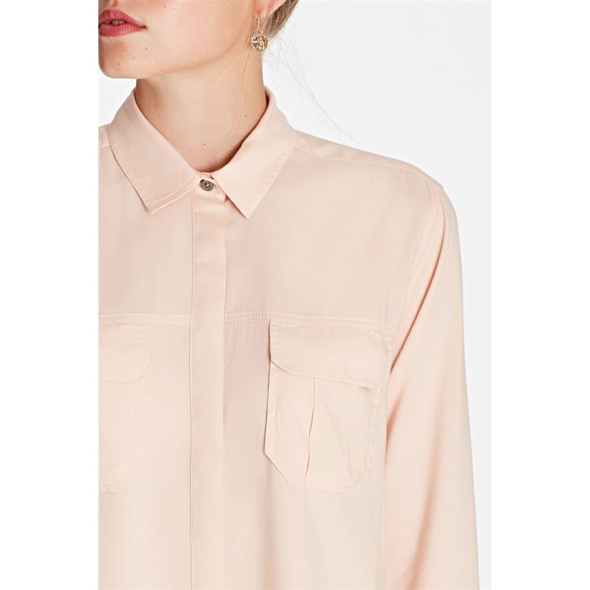 Uzun Kollu Gömlek Soluk Gül