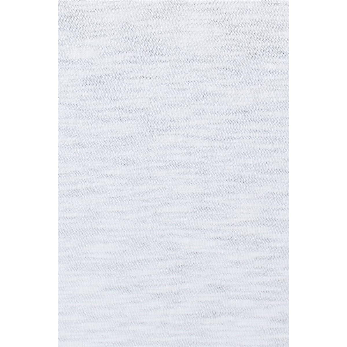 Yirtmaç Detayli Penye Beyaz