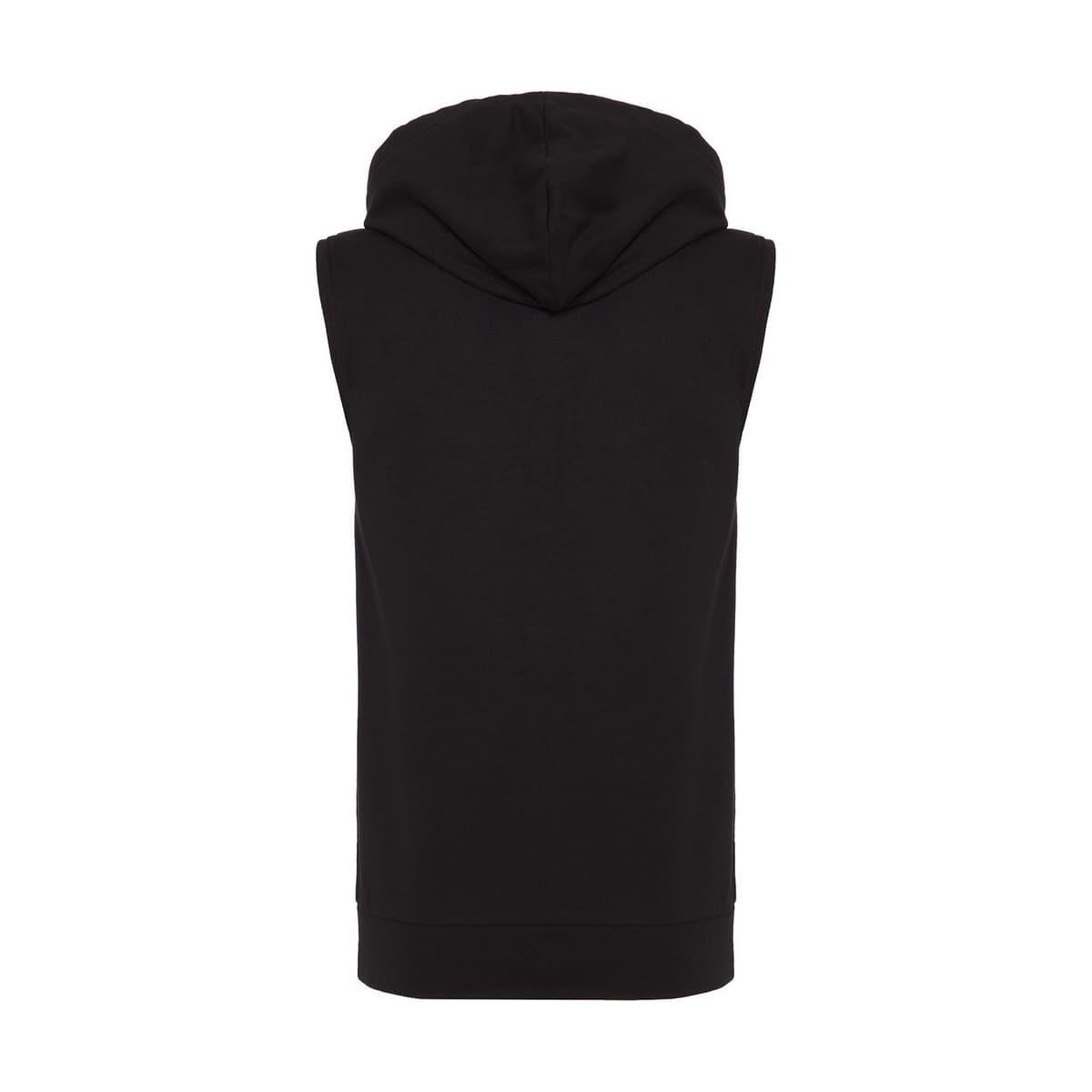 Erkek Kolsuz Kapüşonlu Siyah Sweatshirt (MPH1109-BK)