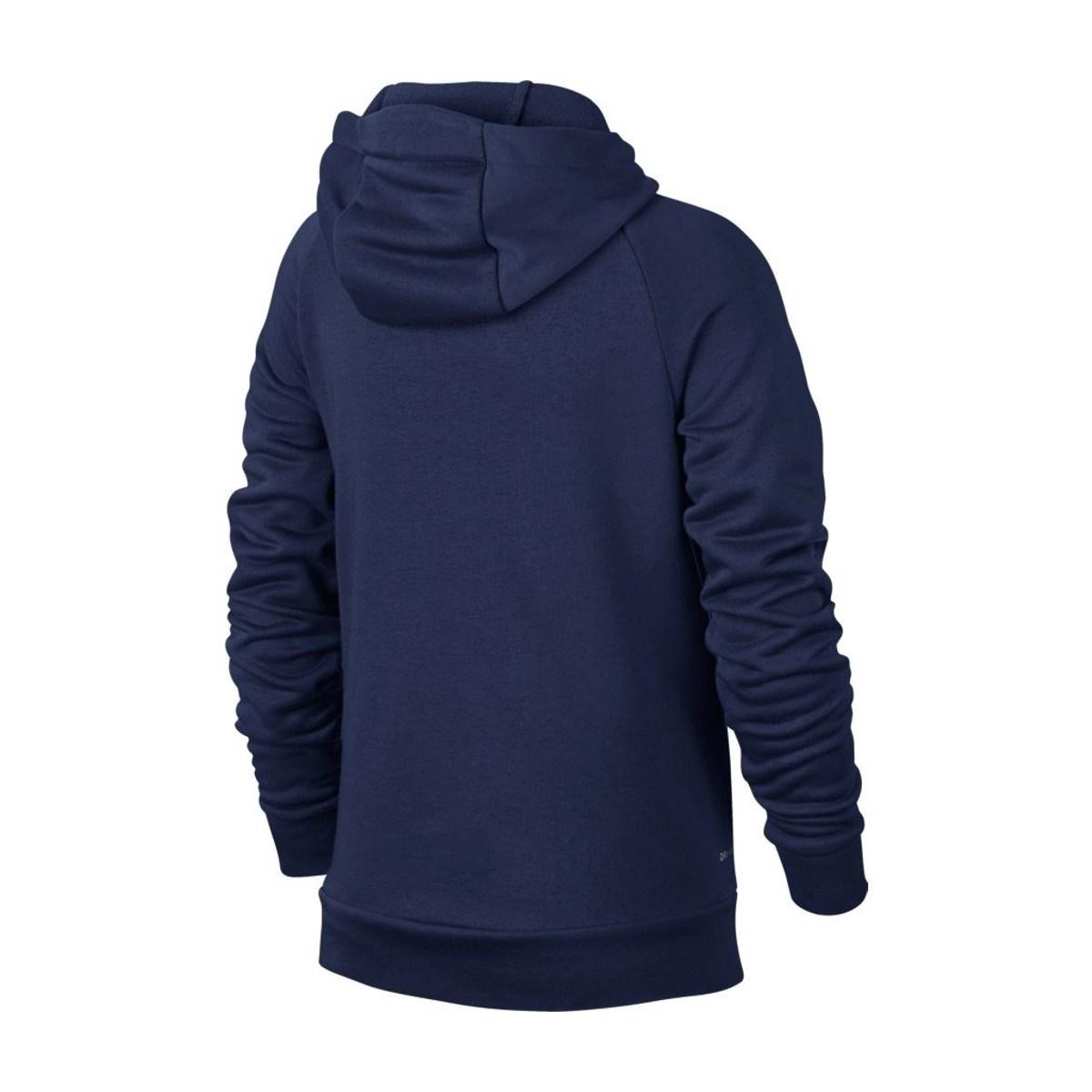 Dry-Fit Çocuk Kapşonlu Lacivert Sweatshirt