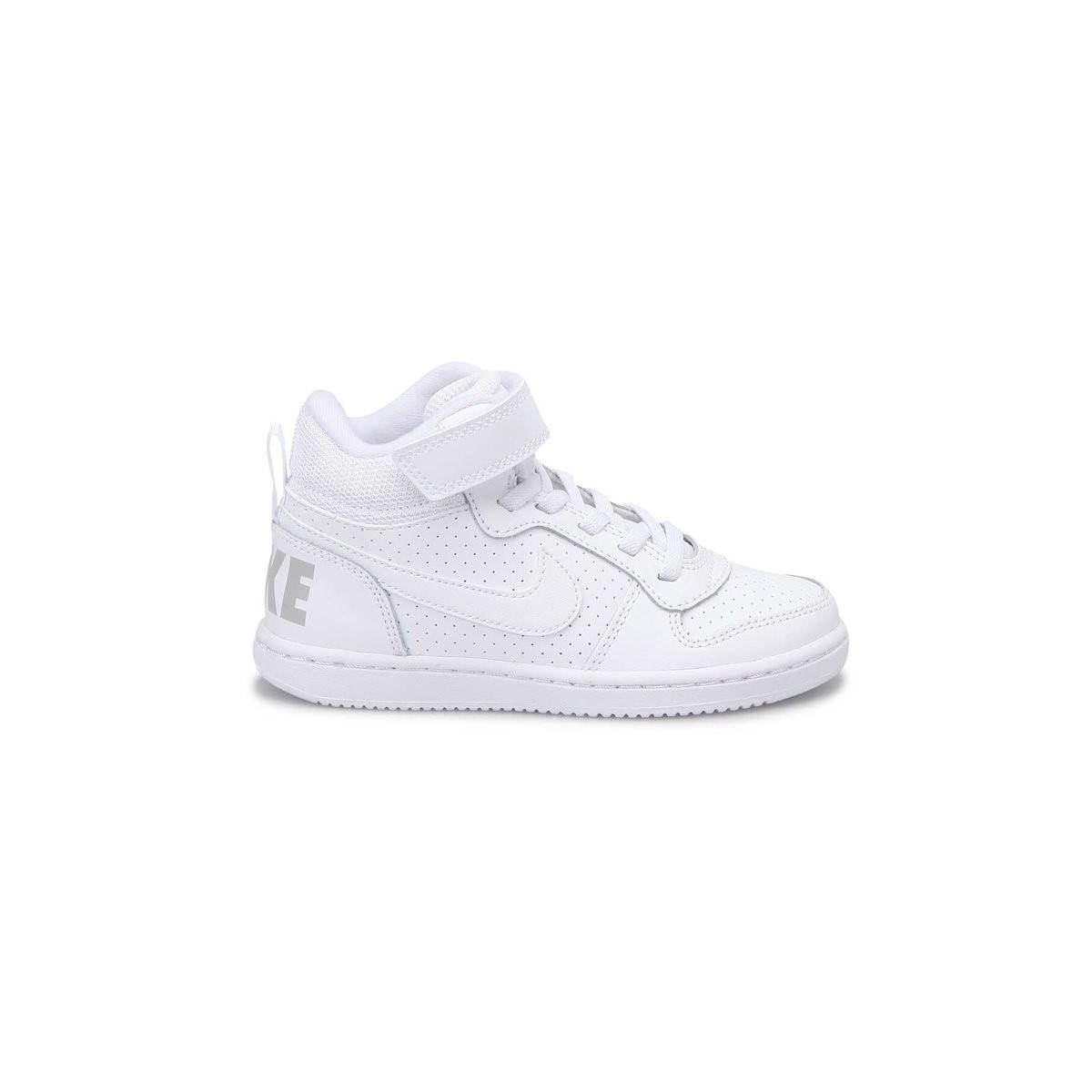 Court Borough Mid Çocuk Beyaz Spor Ayakkabı