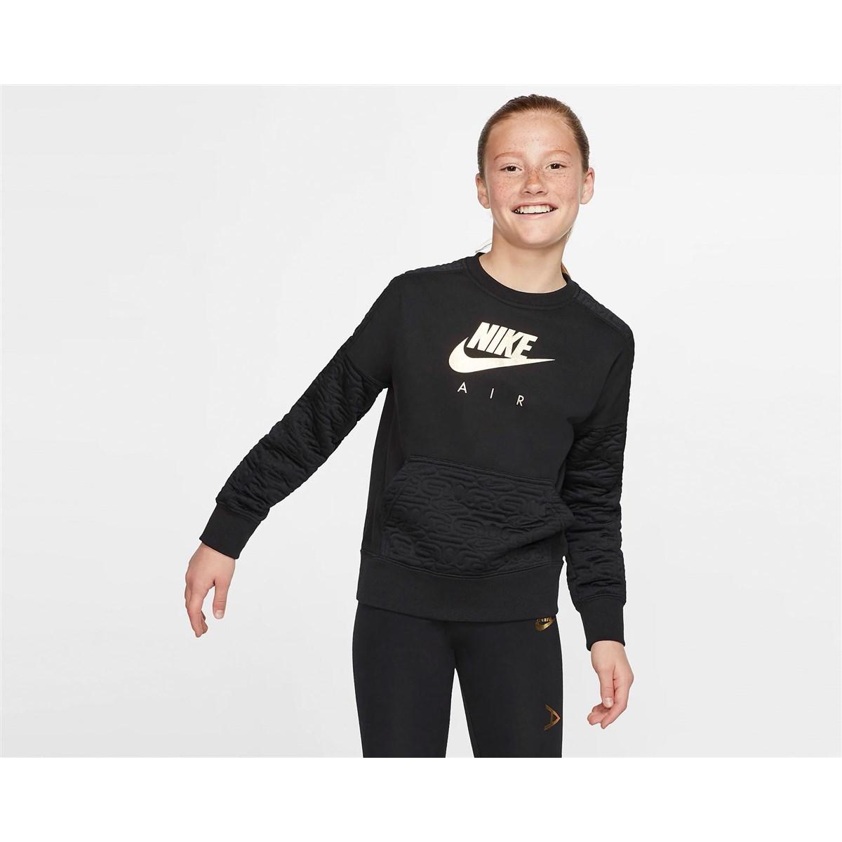 Air Sportswear Fleece Çocuk Siyah Sweatshirt (BV2703-010)