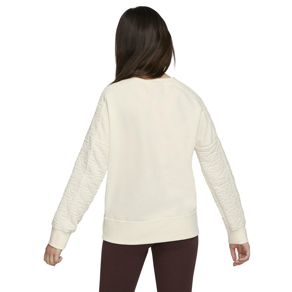 Air Sportswear Fleece Çocuk Beyaz Sweatshirt (BV2703-133)