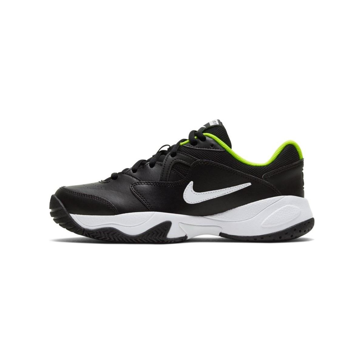 Court Lite 2 Çocuk Siyah Tenis Ayakkabısı