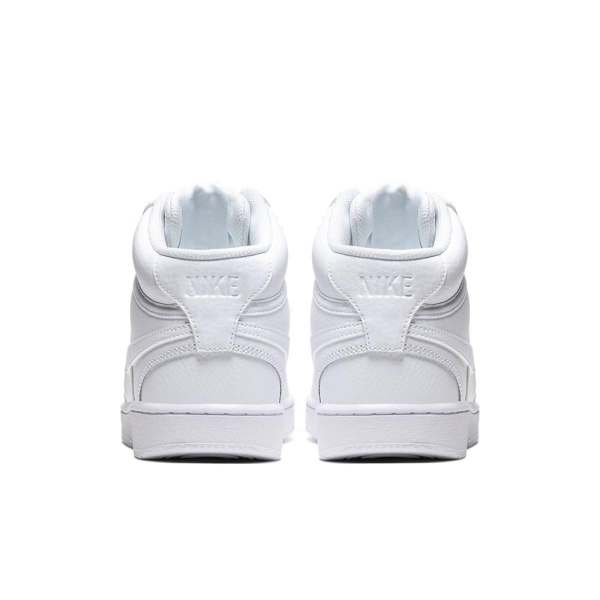 Court Vision Mid Erkek Beyaz Spor Ayakkabı