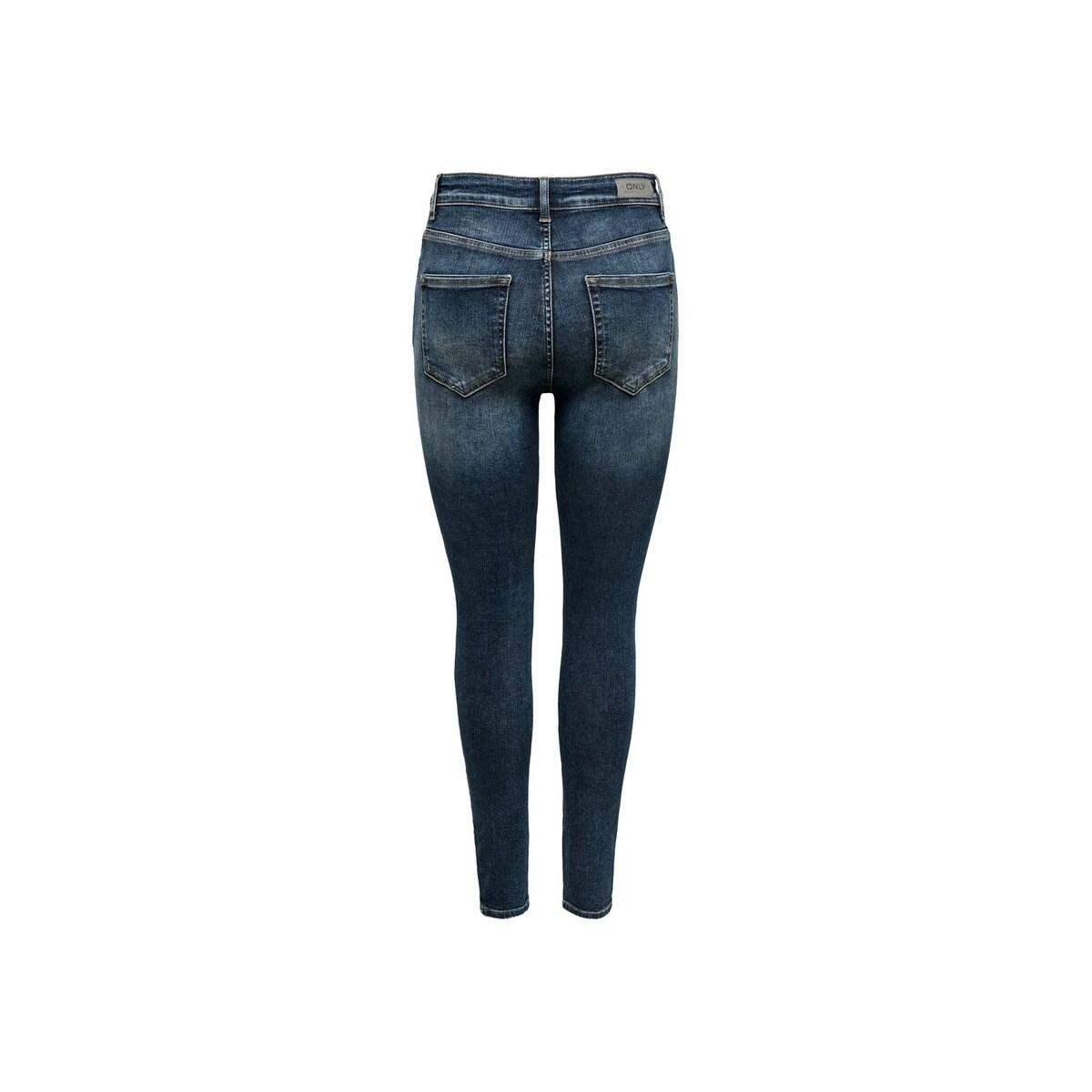 Onlblush Hw Button Sk Ank Jeans Rea3278