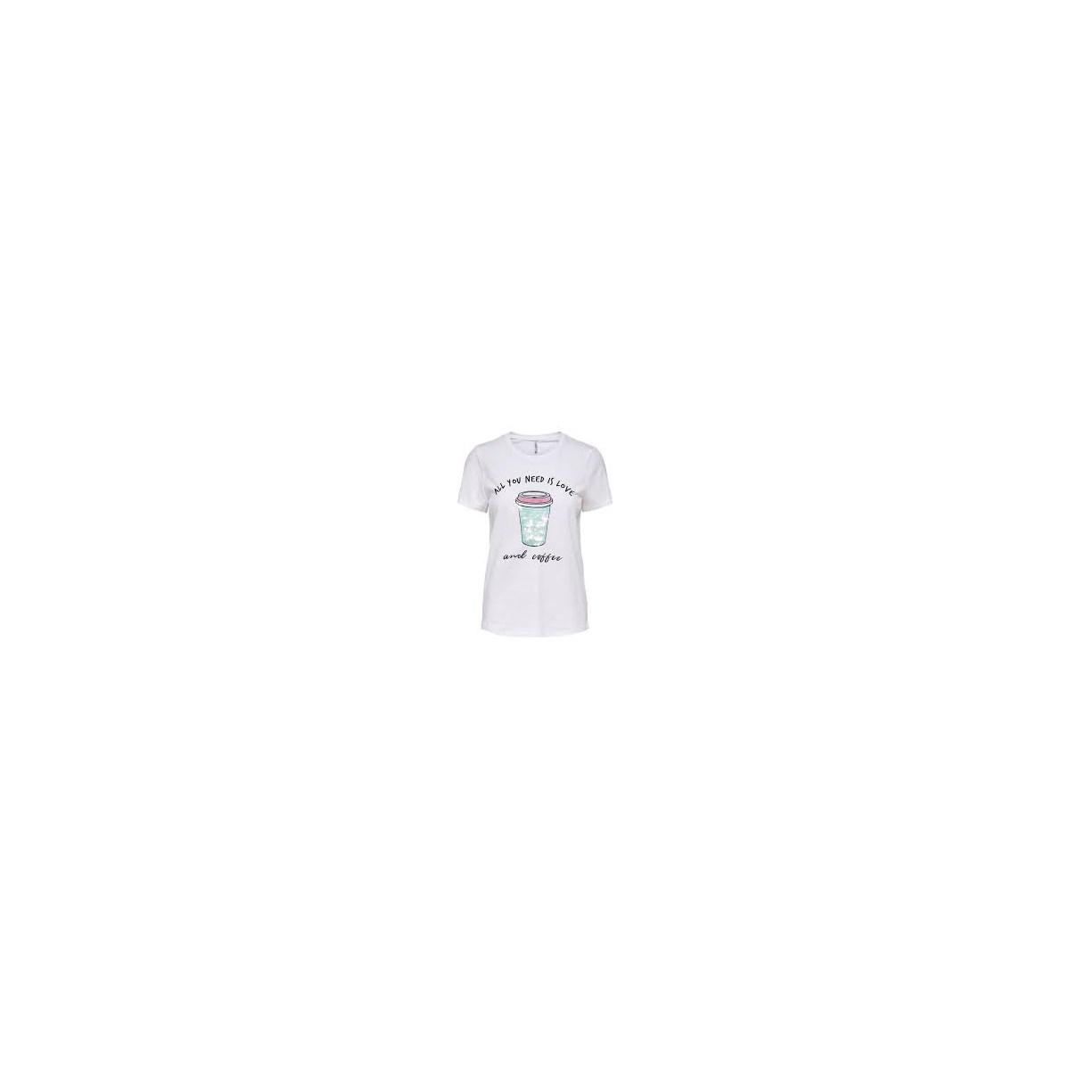 Onlcina Kadın Beyaz Tişört (15203528-Bright White)