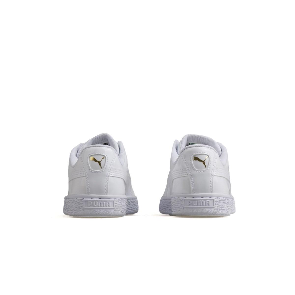 Basket Heart Patent Kadın Beyaz Spor Ayakkabı