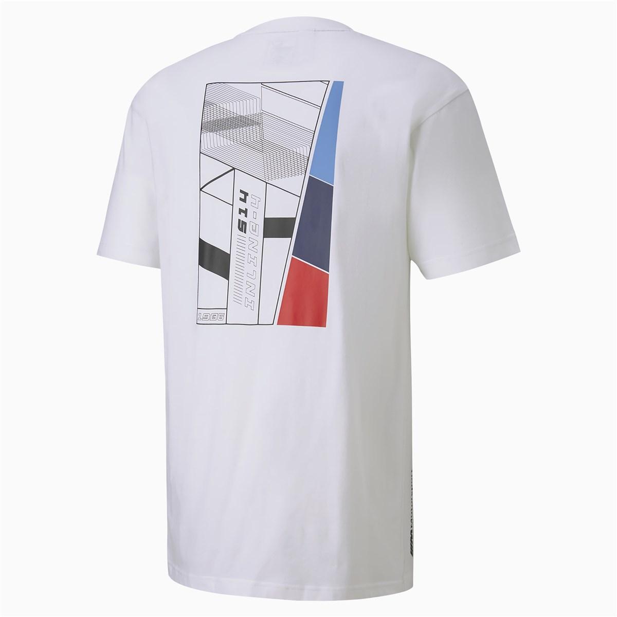 Bmw Mms Life Graphic Erkek Beyaz Tişört