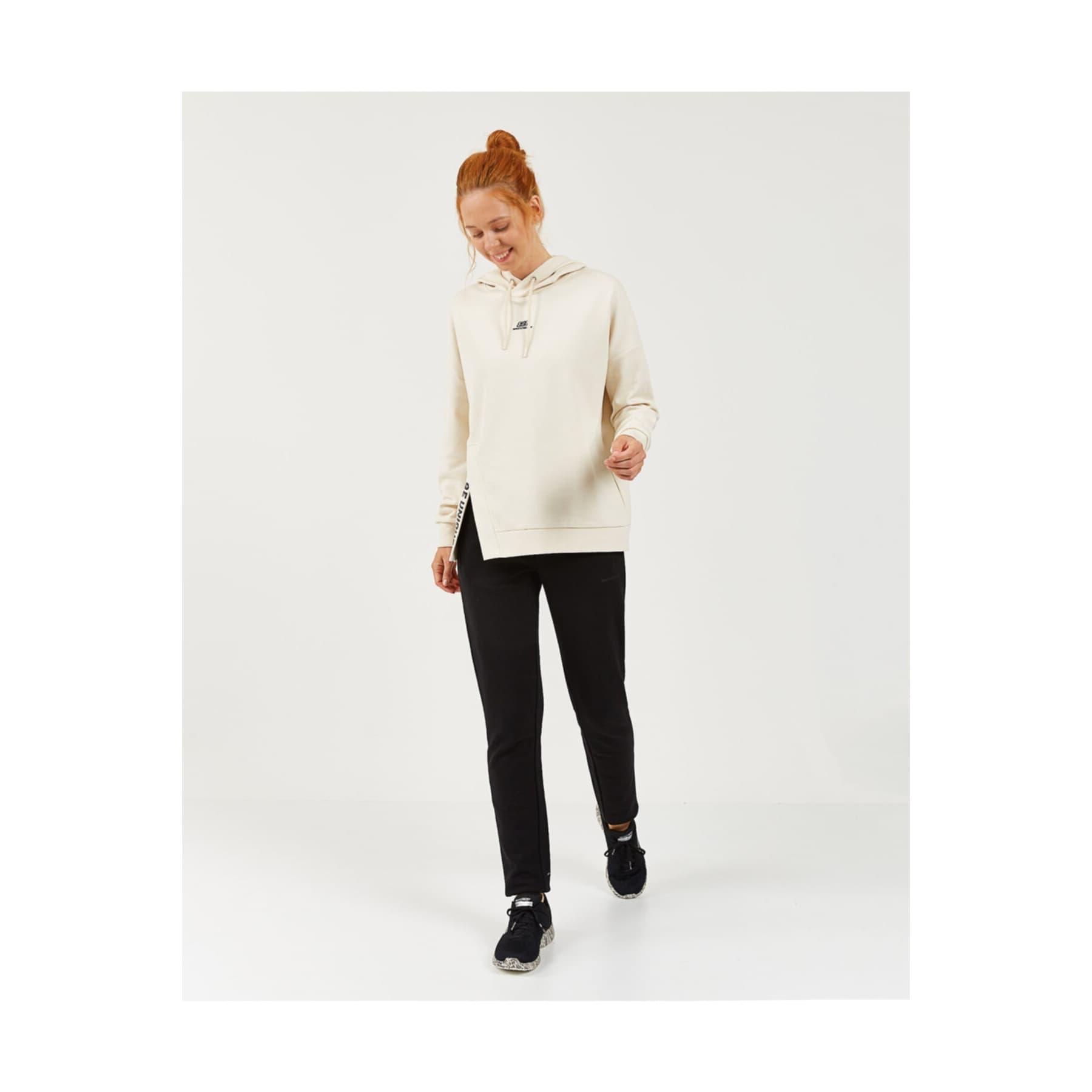 2X I-Lock W Print Detailed Kadın Beyaz Sweatshirt