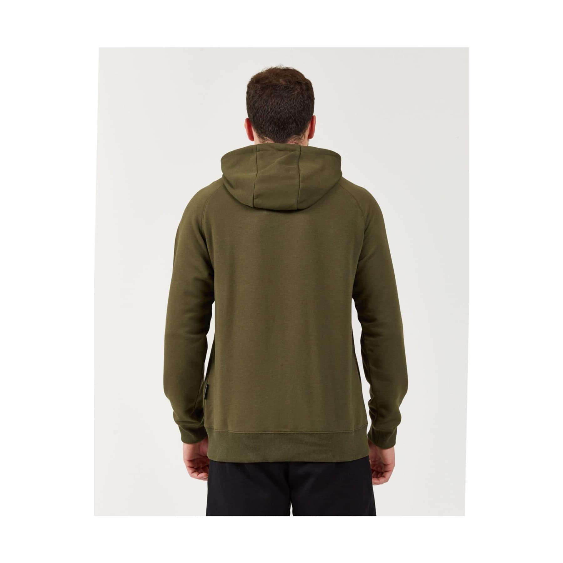 Fleece Logo Printed Erkek Yeşil Sweatshirt (S202078-801)