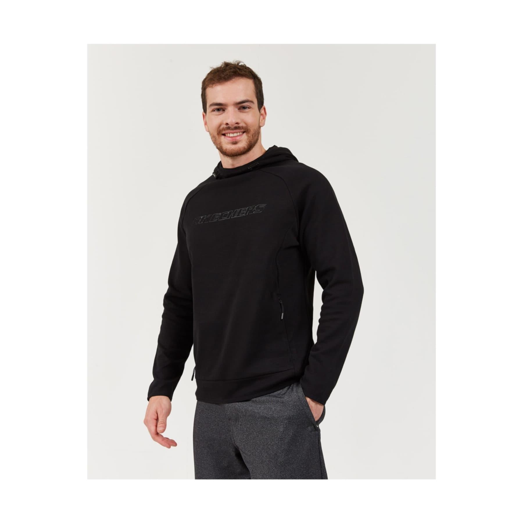 2X I-Lock M Concealed Zip Detailed Erkek Siyah Sweatshirt