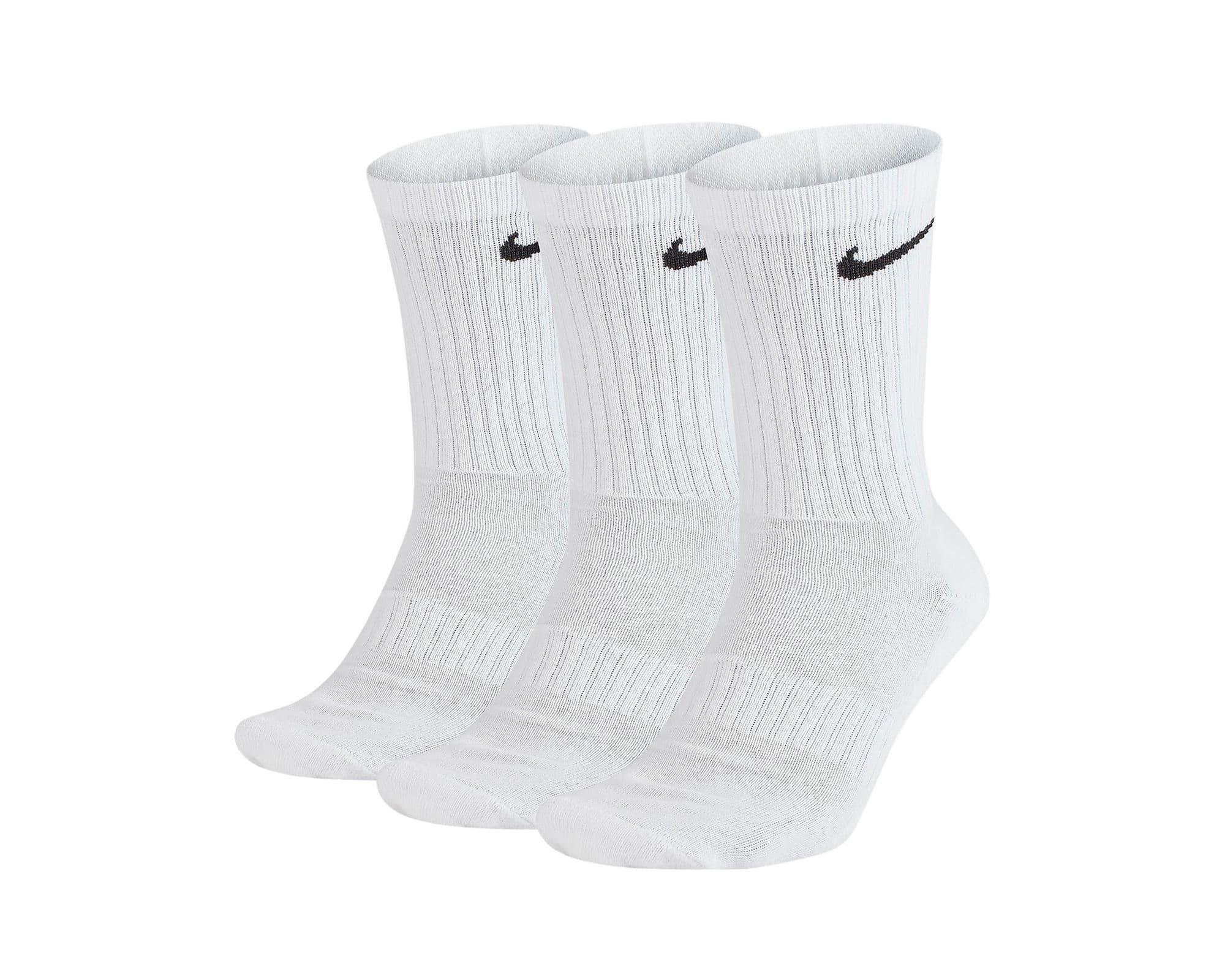 Everyday Cushioned Beyaz 3'lü Spor Çorap (SX7664-100)