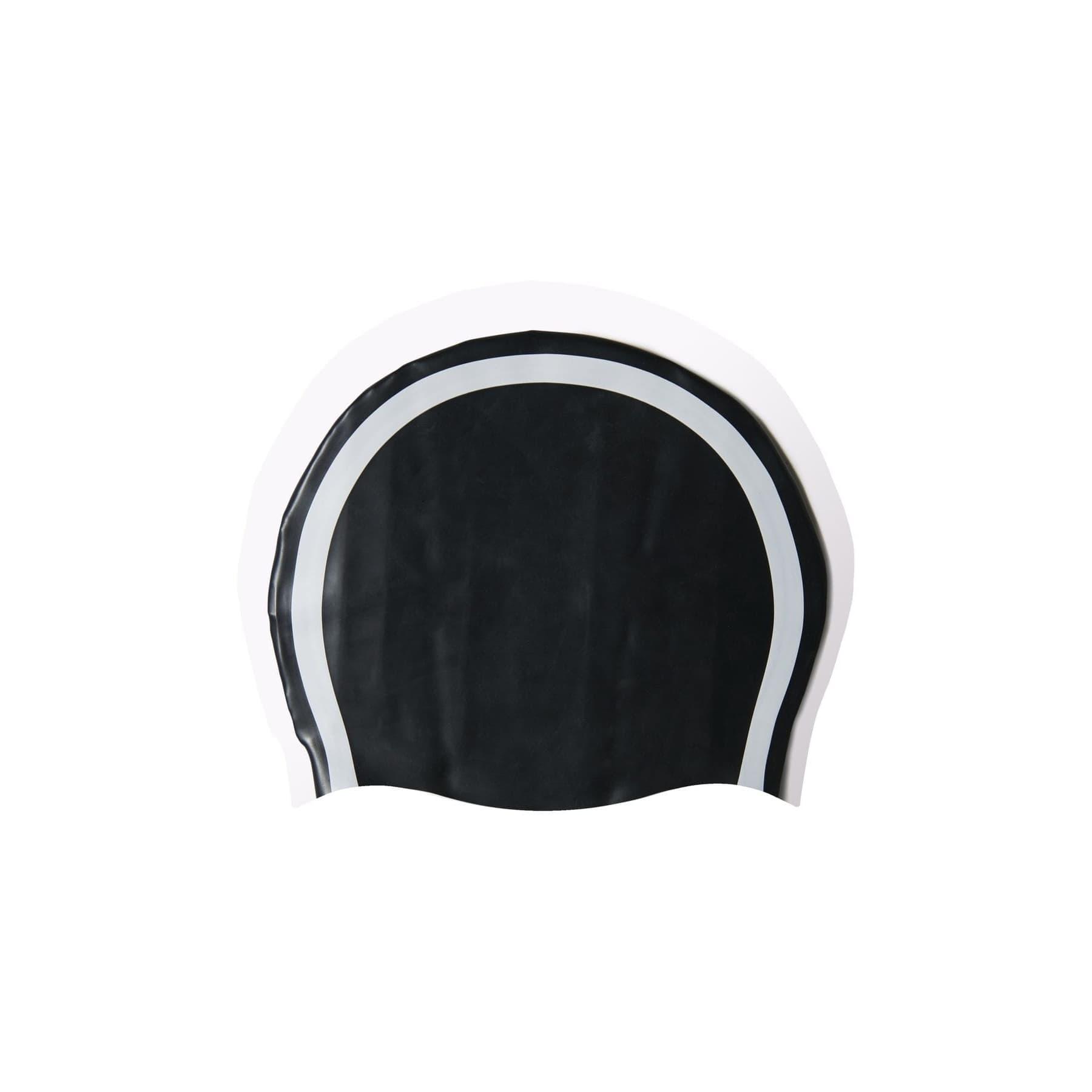 3 Bantlı Çocuk Siyah Slikon Yüzücü Bonesi (V86934)