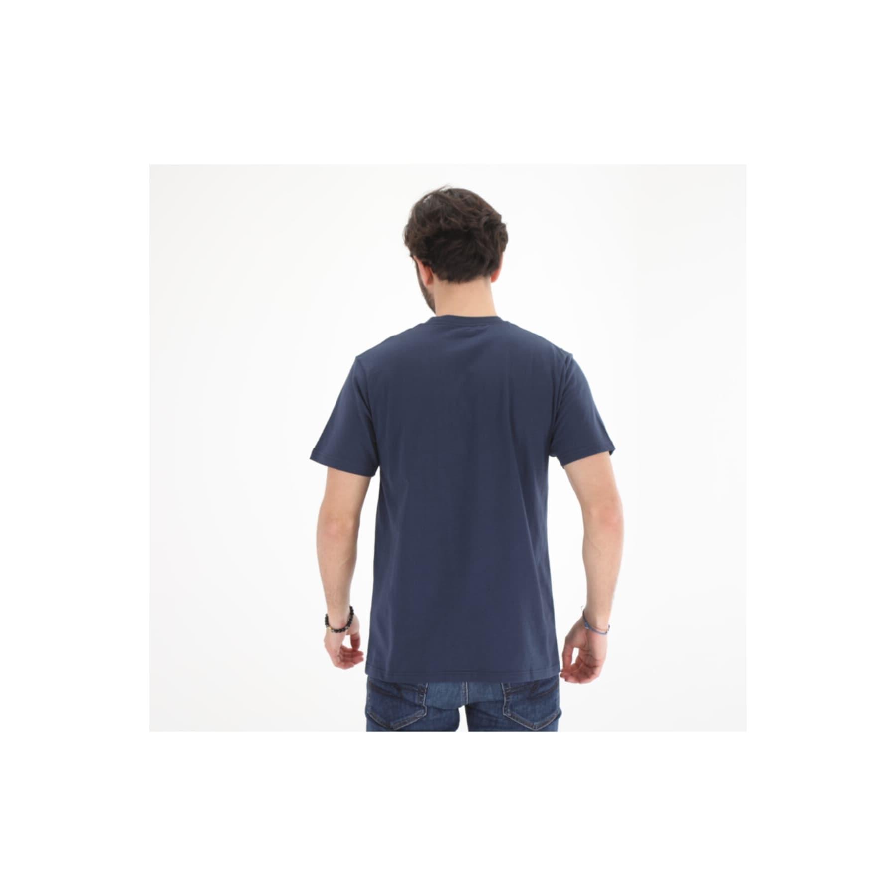 Authentic Checker SS Erkek Lacivert Tişört (VN0A54D1LKZ1)